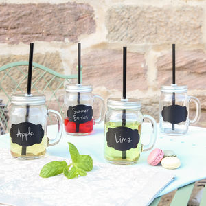 Mason Jar Tumbler With Lid And Straw - kitchen
