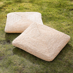 Natural Square Corn Grass Cushion - living room