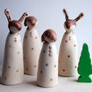 Spotty Ceramic Hare Ornament