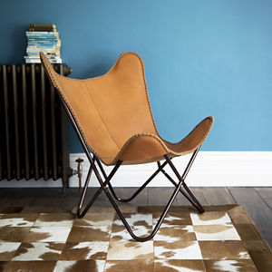 Papillon Leather Butterfly Chair - furniture