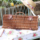 Wicker Foldaway Barbecue Set With Tools
