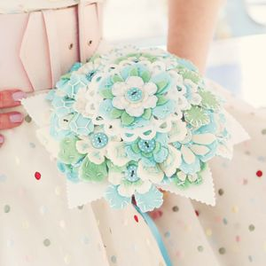 Retro Love Polka Dot Felt Bouquet