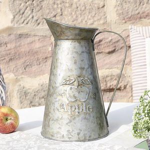 Galvanised Apple Pitcher Jug - decorative accessories