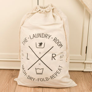 Large Fabric Laundry Bag - bedroom