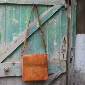 Savannah Leather Messenger Bag - bags & purses