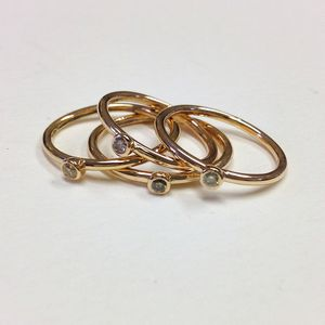 Dainty Diamond Ring - rings