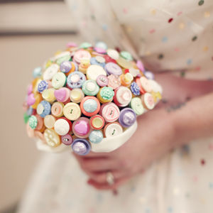 Sweet Rosie Pastel Button Bouquet - spring florals