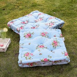 Vintage Floral Floor Cushion - floor cushions & beanbags