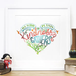 'Plant Kindness' Limited Edition Love Print