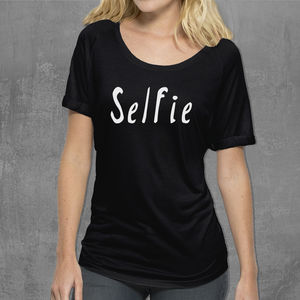 'Selfie' Womans Cotton T Shirt - t-shirts