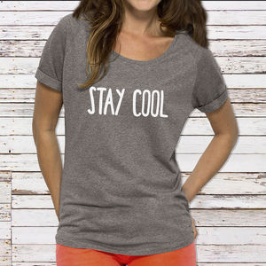 'Stay Cool' Womans Cotton T Shirt - lingerie & nightwear