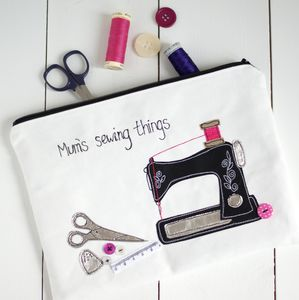 Personalised Zipped Sewing Bag - sewing boxes