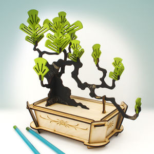 Flat Packed Pine Bonsai Tree Kit - decorative accessories