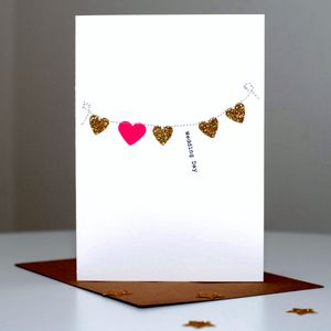 Heart Stiched Bunting Card