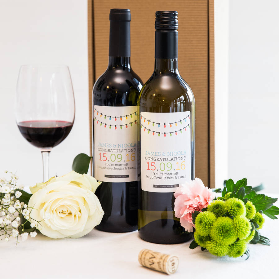 Personalised Wedding Gifts Wine : Ideas Wine Bottle Wedding Gift personalised wedding wine twin pack ...