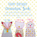 'Happy Birthday' Nanny / Grandma / Grandpa Card