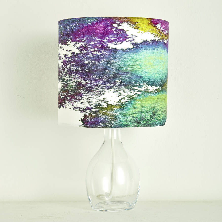 Rainbow patterned lampshade by sophia oconnor notonthehighstreet rainbow patterned lampshade aloadofball Choice Image