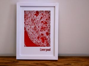 Liverpool Map Cut Out Street Map