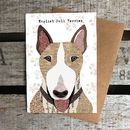 English Bull Terrier Dog Card