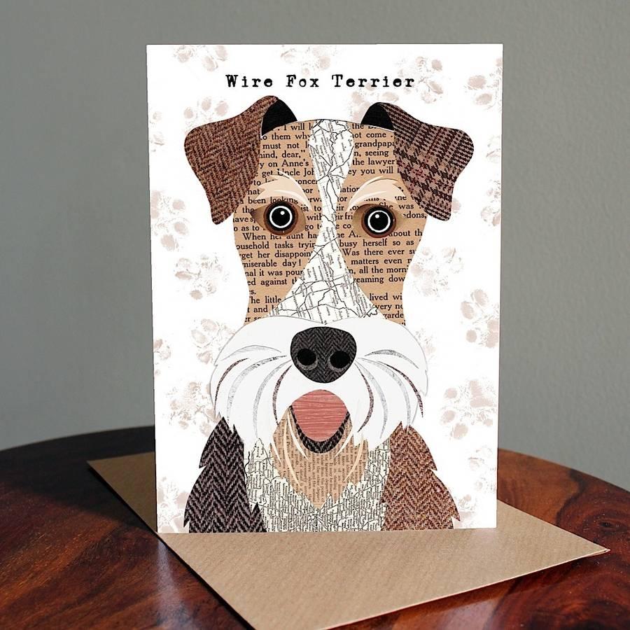 wire fox terrier dog card by simon hart | notonthehighstreet.com