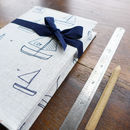 Yachts Linen Notebook