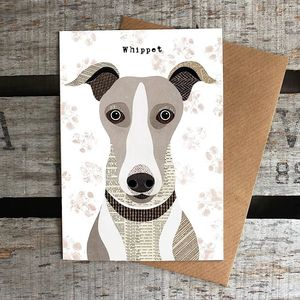 Whippet Dog Card