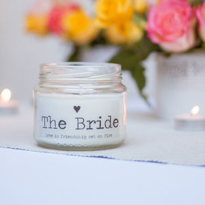 'The Bride' Wedding Candle - table decorations