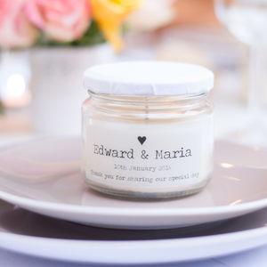 Personalised Wedding Favour Candle - candles & candle holders