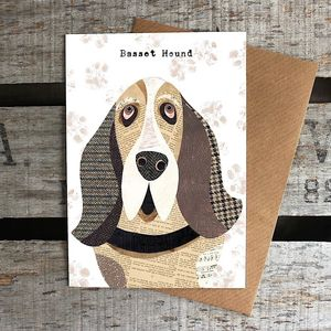 Basset Hound Dog Card