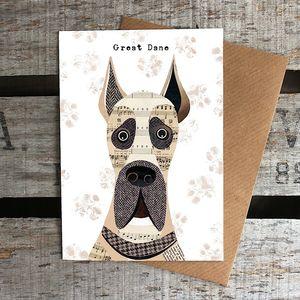 Great Dane Dog Card
