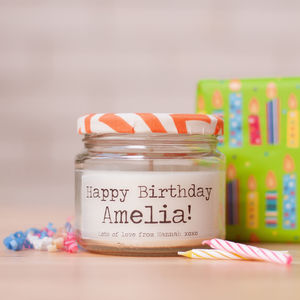 Personalised 'Happy Birthday' Candle - occasional supplies