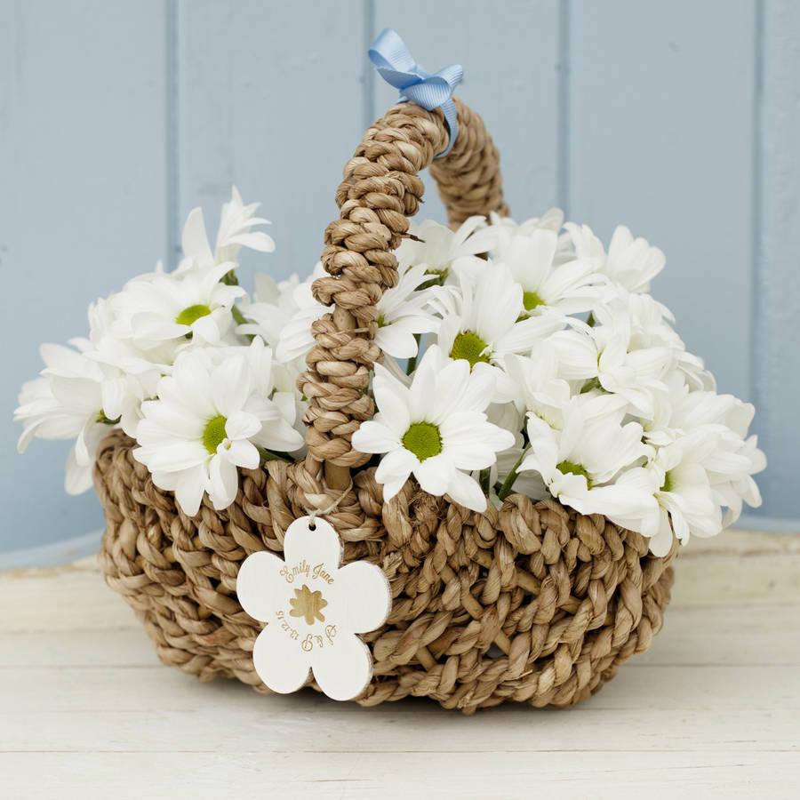 Personalised Flower Girl Basket By Seahorse Notonthehighstreet