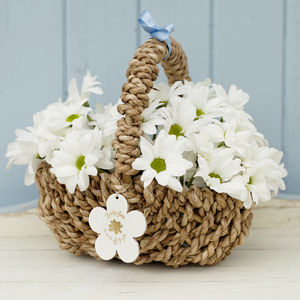 Personalised Flower Girl Basket - wedding fashion