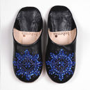 Leather Sequin Babouche Slippers, Essential Collection
