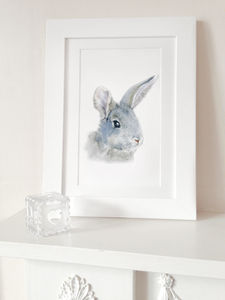 Bunny Portrait Fine Art Print - pictures & prints for children