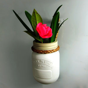 Hanging Jam Jar Vase And Candle Holder
