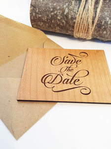 Wooden Save The Date - invitations