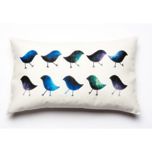 Marching Birdies Printed Cushion Cover