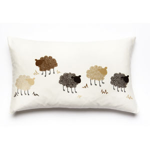 Curly Sheep Printed Cushion Cover