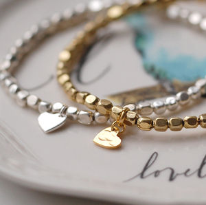 Nugget Heart Bracelet - jewellery for women