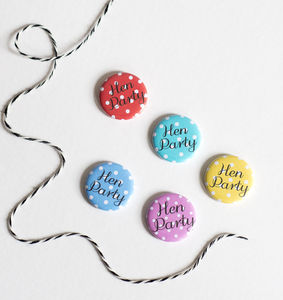 Mini Polka Dot Hen Party Badges