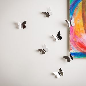 Perspex Mirrored Wall Butterflies - table decorations