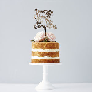 Personalised Song Lyrics Wedding Cake Topper - cake decorations