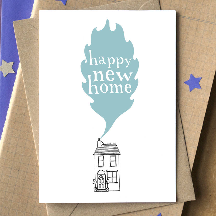 u0026 39 happy new home u0026 39  card by becka griffin illustration