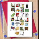 Great Britain Alphabet Card