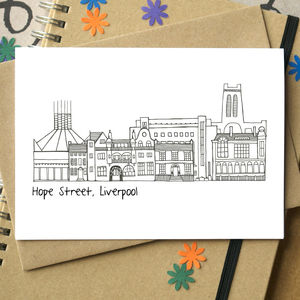 Liverpool Hope Street Greetings Card