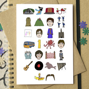 Beatles Alphabet Card