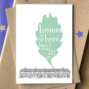 'Home Is Where…' Personalised Adoption Card - new baby cards