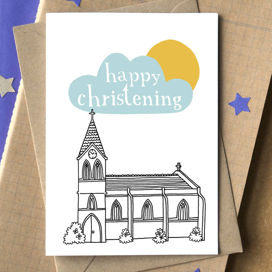 Personalised happy christening card by becka griffin personalised happy christening card kristyandbryce Choice Image