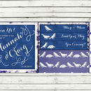 Blue Birds Pocket Fold Wedding Invitation